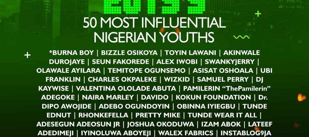 50 MOST INFLUENTIAL YOUTHS OF 2019